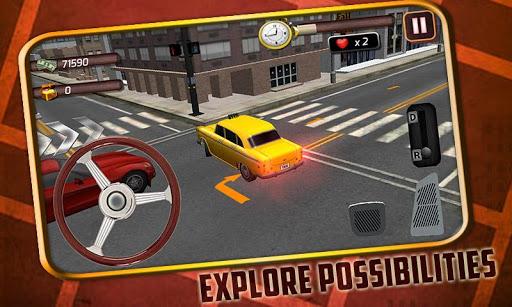 3D出租車司機停車