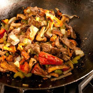 Wild Mushroom and Beef Stir-Fry