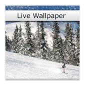 Skiing in Snow Live Wallpaper
