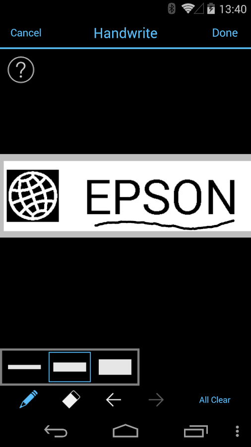 Epson iLabel- screenshot