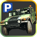 militar camionista Parking Sim icon