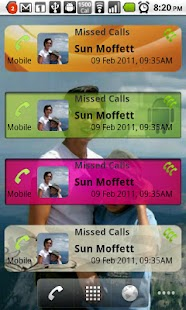 Missed Calls Widget- screenshot thumbnail