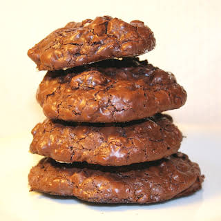 Chewy chocolate cookies with Rum-soaked raisins.