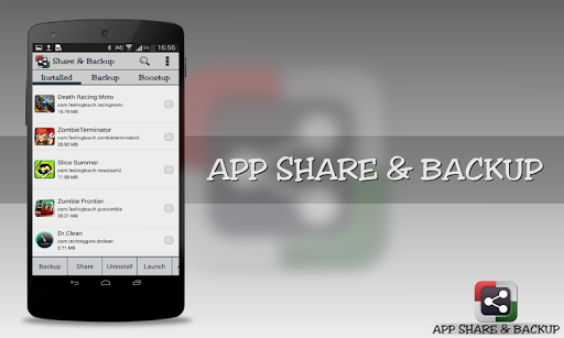 Share App and App Backup