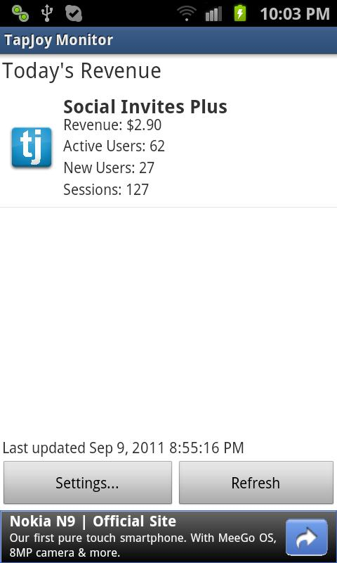 Revenue Monitor for Tapjoy- screenshot
