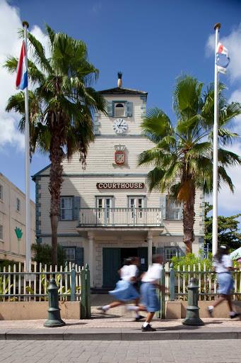 courthouse-philipsburg-St-Maarten - The courthouse in Philipsburg, capital of St. Maarten.