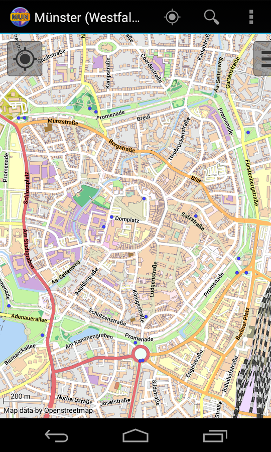 Münster Offline City Map- screenshot