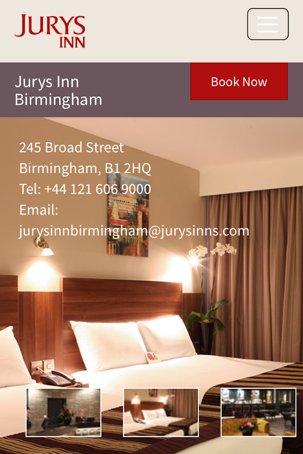 Jurys Inn- screenshot