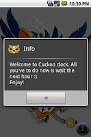 Screenshot of Cuckoo Clock