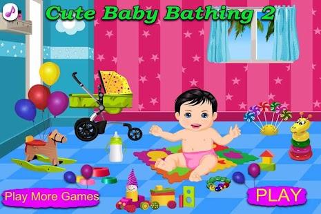 Cute Baby Bathing 2