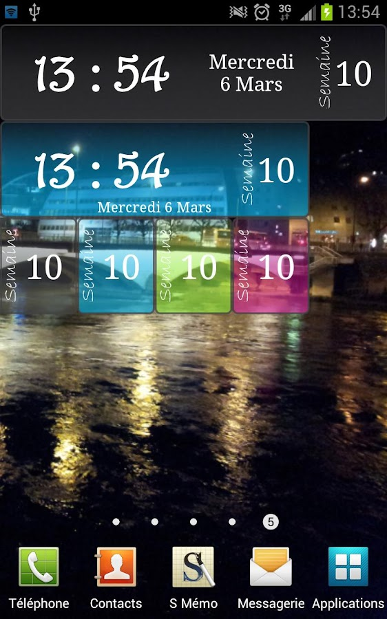 Clock Week - screenshot