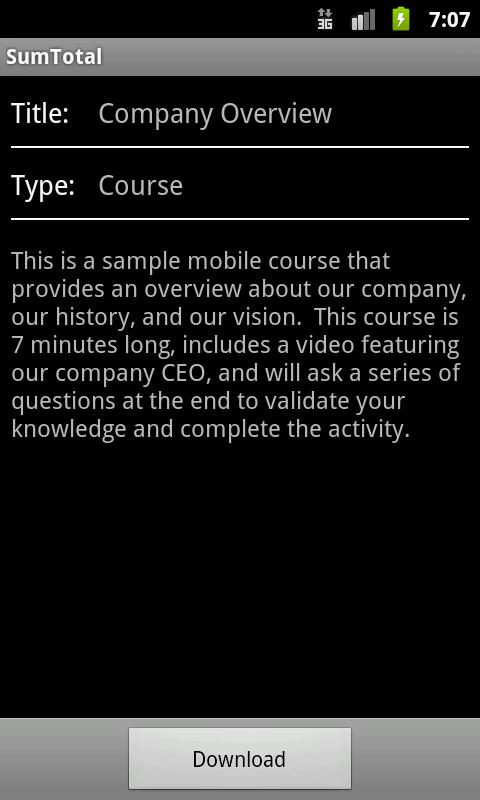 SumTotal Mobile- screenshot