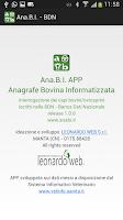 Screenshot of ANABI APP - Anagrafe Bovina