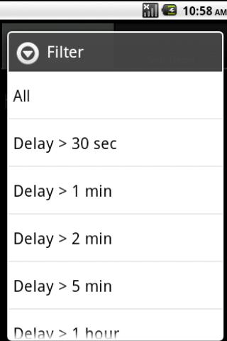 SMS Delay Tracker - screenshot