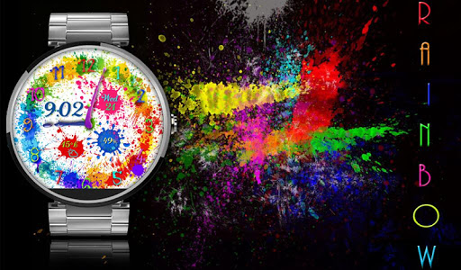 Rainbow Splash Round Wear Face