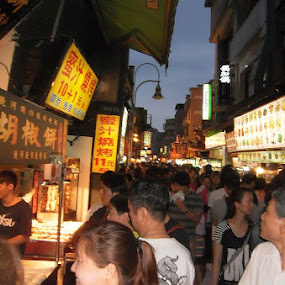 Shihlin Night market by Jed Mitter - City,  Street & Park  Markets & Shops ( taiwan, taipei, night market )