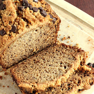 Peanut Butter Chocolate Chip Streusel Banana Bread