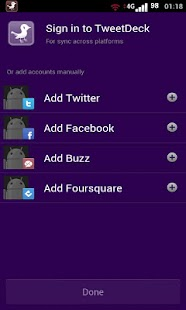 TweetPurple Tweetdeck (Free) - screenshot thumbnail