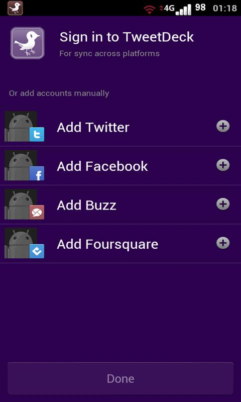 TweetPurple Tweetdeck (Free) - screenshot