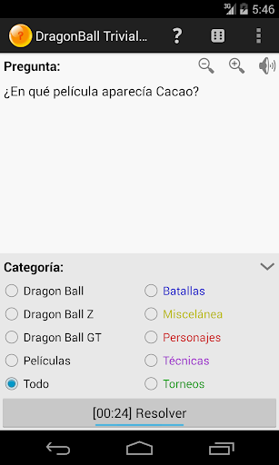 Trivial de DragonBall Plus