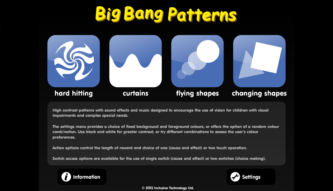 Big Bang Patterns- screenshot