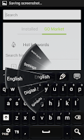 Screenshot of Black Style Keyboard