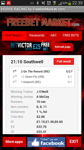 UK Horse Racing Fast Results