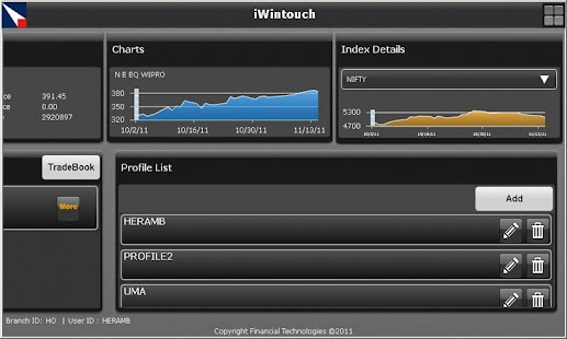 iWintouch for Tablets- screenshot thumbnail