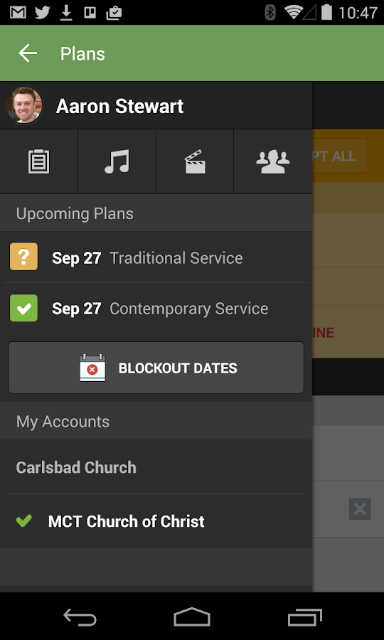 Planning Center Services- screenshot