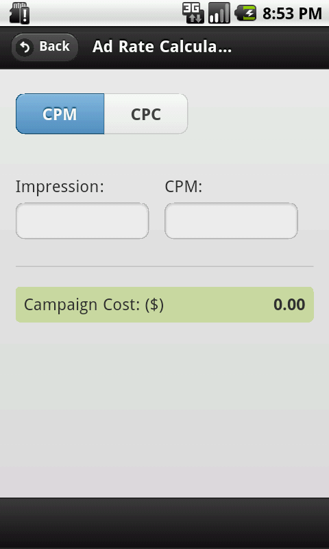 Ads CPM and CPC Calculator- screenshot