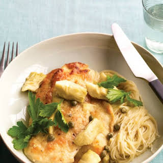 Chicken with Artichokes and Angel Hair.