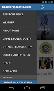 Beaufort Gazette - mobile news - screenshot thumbnail