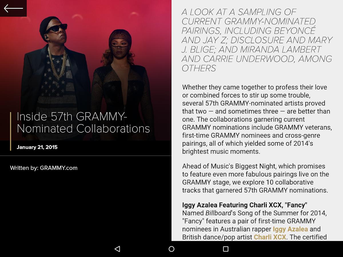 GRAMMYs - screenshot