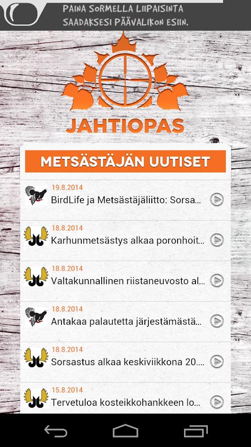 Jahtiopas - screenshot