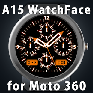 A15 WatchFace for Moto 360 - náhled