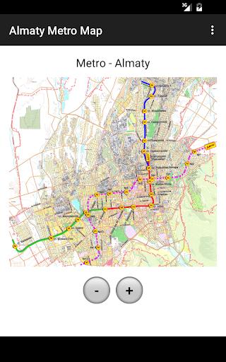 Almaty Metro Map