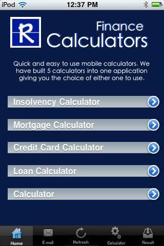 Calculators 5 in 1 App- screenshot