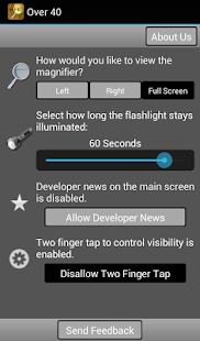 Over40 Magnifier & Flashlight - screenshot thumbnail
