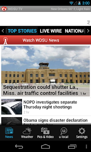 WDSU 6 TV - news and weather - screenshot thumbnail