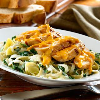 Spinach & Artichoke Chicken With Creamy Pasta.