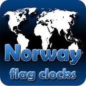 Norway flag clocks