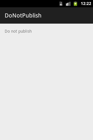 Do Not Publish