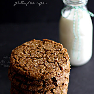 Gluten Free Vegan Ginger Molasses Cookies