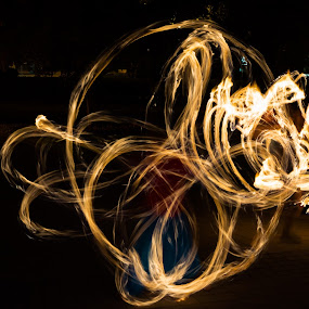 Fire spirit by Yu Tsumura - Abstract Fire & Fireworks ( light painting, juggling, night, fire, flame )