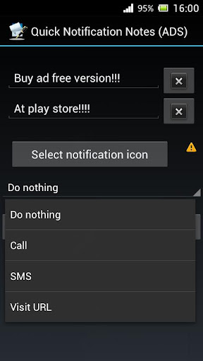 Quick Notification Notes ADS
