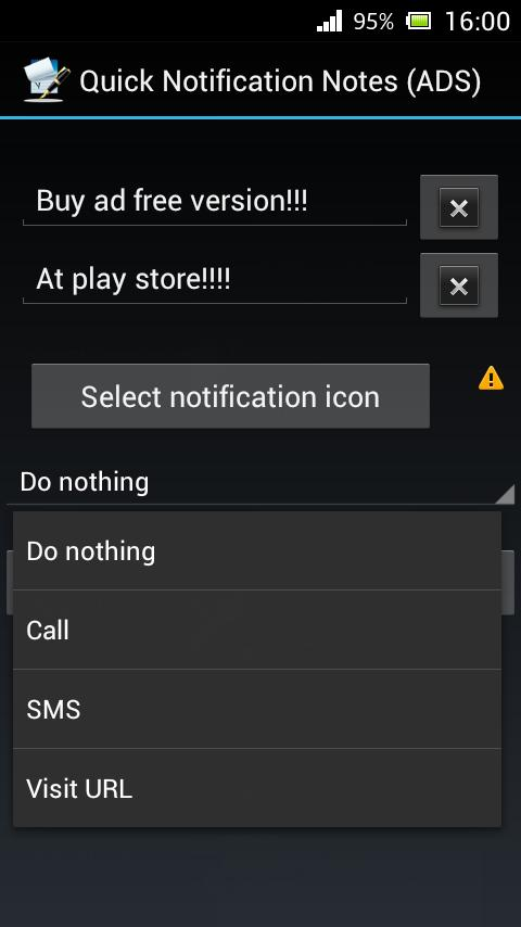 Quick Notification Notes ADS - screenshot