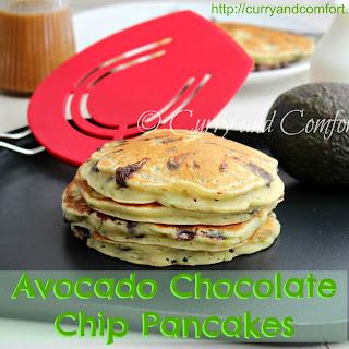Avocado Chocolate Chip Pancakes