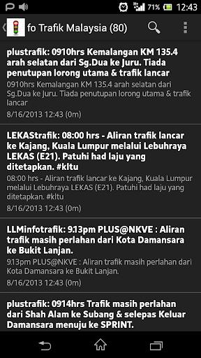 Trafik Malaysia Traffic
