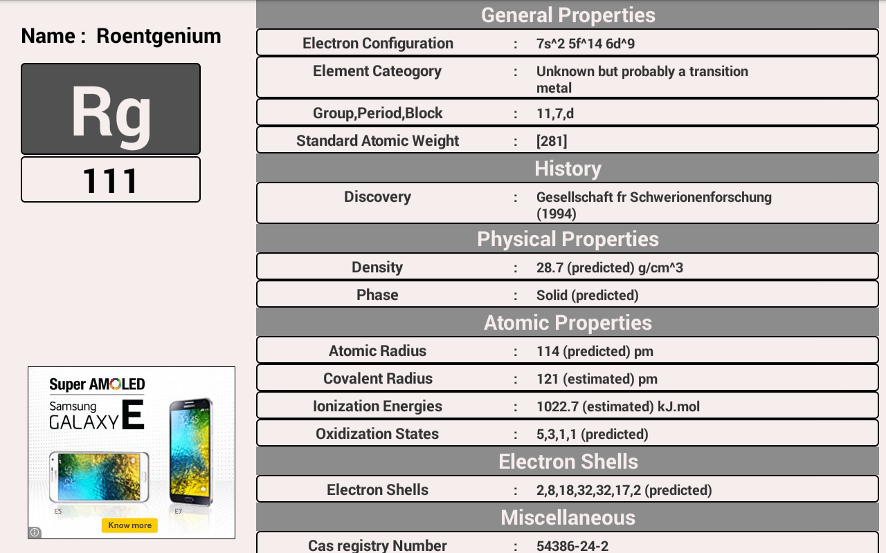 Easy periodic table android apps on google play easy periodic table screenshot gamestrikefo Choice Image
