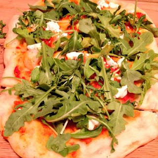 Grilled Flatbread with Goat Cheese and Arugula Recipe